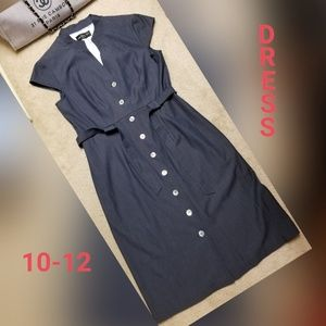 Blue Button Up Dress by Connected Apperal 10/12?